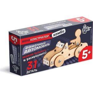 Конструктор деревянный «Гоночный автомобиль» (31 деталь, арт. 01622)
