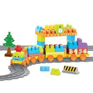 Конструктор Dolu «Моя первая железная дорога» (85 элементов)
