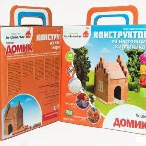 """Конструктор """"Домик"""" из настоящих кирпичиков, 99 деталей"""