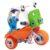 Конструктор гибкий – Мотоцикл, 90 деталей