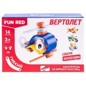 """Конструктор гибкий """"Вертолет Fun Red"""", 14 деталей"""