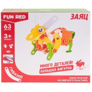 "Конструктор гибкий ""Заяц Fun Red"", 63 детали"