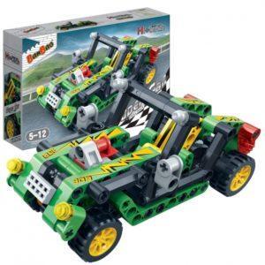 Конструктор «Гоночная машина» зелёная (128 деталей)