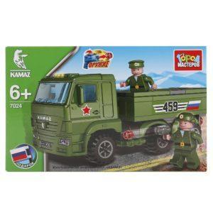 Конструктор Город мастеров «КамАЗ: Военный грузовик с солдатами» (113 деталей, арт. 7024)