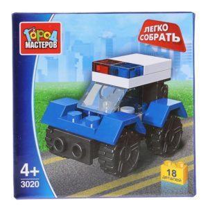 Конструктор Город мастеров «Полиция: Полицейская машина» (18 деталей, арт. 3020)