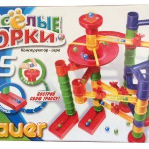 Конструктор-игра Bauer «Весёлые горки» (65 элементов, арт. 273)