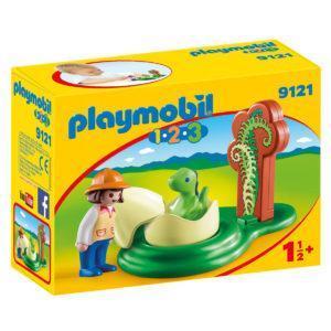 Конструктор игровой Playmobil «1.2.3.: Девочка и яйцо динозавра» (арт. 9121)