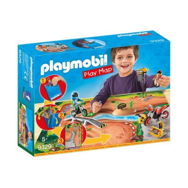 Конструктор игровой Playmobil «Игровая карта: Мототрасса» (арт. 9329)