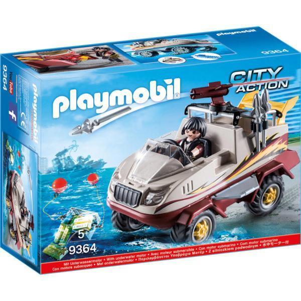 Конструктор игровой Playmobil «Полиция: Грузовик-амфибия» (арт. 9364)