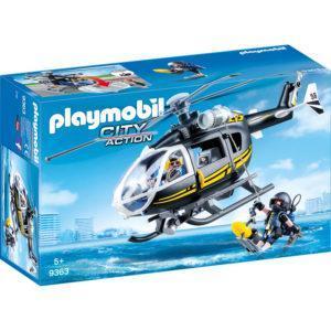 Конструктор игровой Playmobil «Полиция: Тактическое подразделение - вертолёт» (арт. 9363)