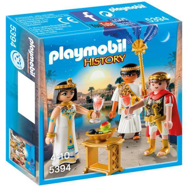 Конструктор игровой Playmobil «Римляне и Египтяне: Цезарь и Клеопатра» (арт. 5394)