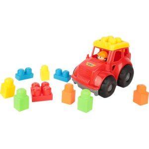 Конструктор Игруша Машина (9 дет), цвет: красный