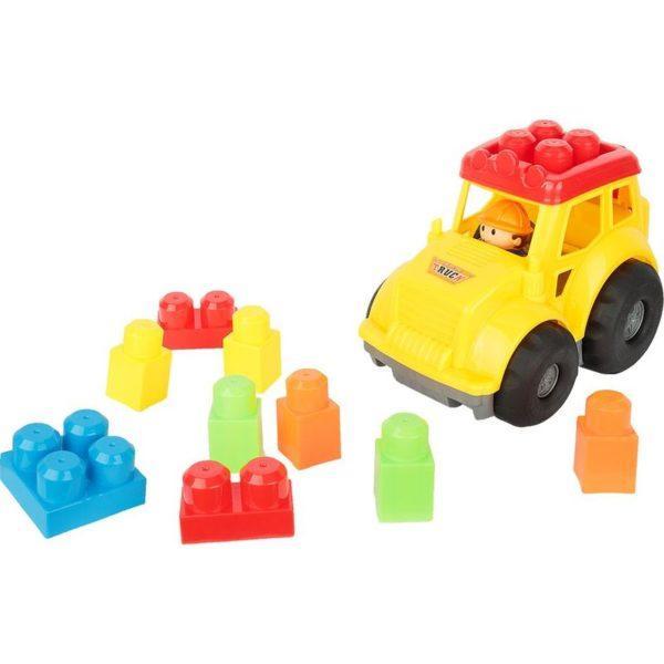 Конструктор Игруша Машина (9 дет.), цвет: желтый