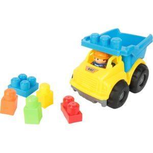 Конструктор Игруша Машина (9 дет.), цвет: желтый/синий