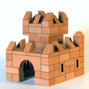 Конструктор из настоящих кирпичиков «Средневековая крепость» (119 деталей)