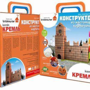 """Конструктор """"Кремль» из настоящих кирпичиков, 130 деталей"""