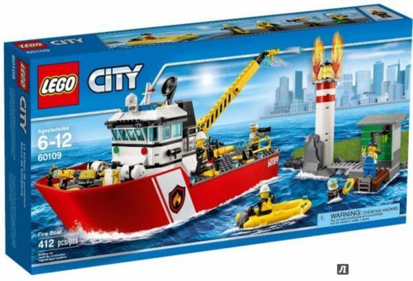 Конструктор LEGO City (арт. 60109) «Пожарный катер»