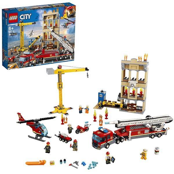 Конструктор LEGO City (арт. 60216) «Пожарные: Центральная пожарная станция»