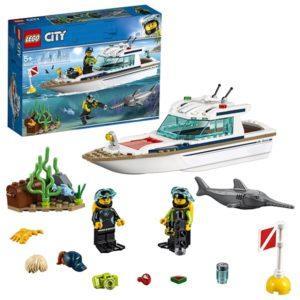 Конструктор LEGO City (арт. 60221) «Транспорт: Яхта для дайвинга»