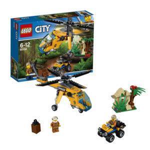 Конструктор LEGO City (арт. 60158) «Грузовой вертолёт исследователей джунглей»