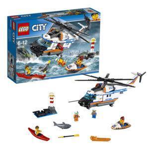 Конструктор LEGO City (арт. 60166) «Сверхмощный спасательный вертолёт»