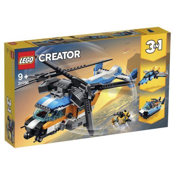 Конструктор LEGO Creator 3в 1 (арт. 31096) «Двухроторный вертолёт»