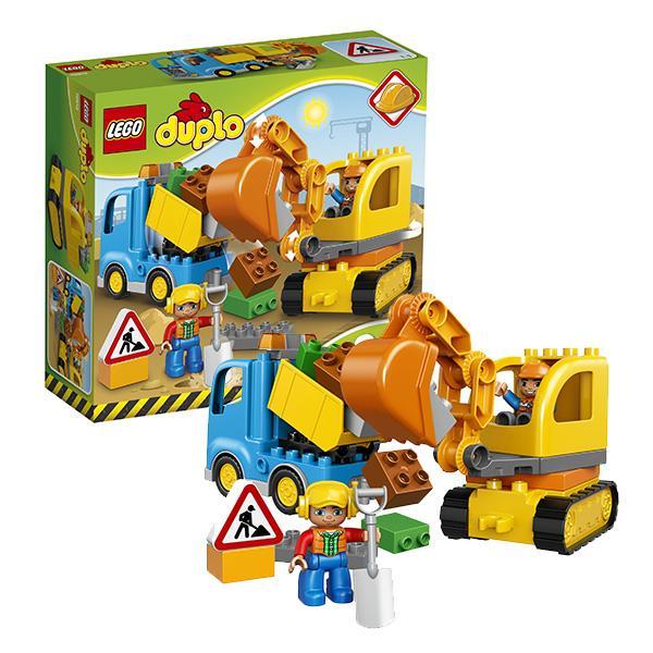 Конструктор LEGO Duplo (арт. 10812) «Грузовик и гусеничный экскаватор»