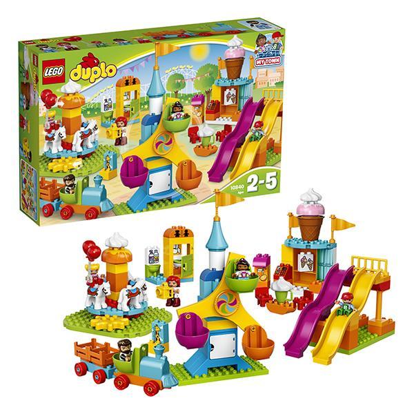 Конструктор LEGO Duplo (арт. 10840) «Большой парк аттракционов»