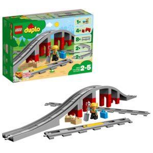 Конструктор LEGO Duplo (арт. 10872) «Железнодорожный мост и рельсы»