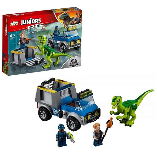 Конструктор LEGO Juniors (арт. 10757) «Jurassic World: Грузовик спасателей для перевозки раптора»