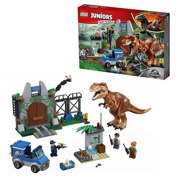 Конструктор LEGO Juniors (арт. 10758) «Jurassic World: Побег Ти-Рекса»