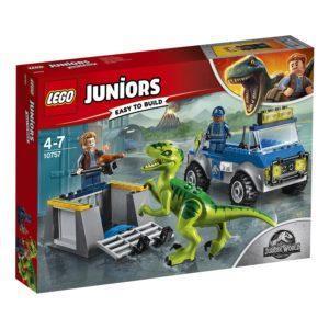 Конструктор LEGO Jurassic World (арт. 10757) «Грузовик спасателей для перевозки раптора»