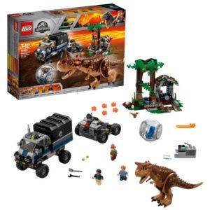 Конструктор LEGO Jurassic World (арт. 75929) «Побег в гиросфере от карнотавра»