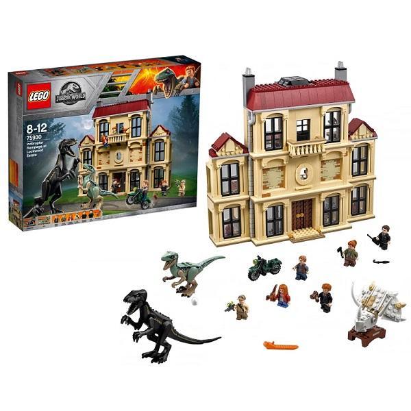 Конструктор LEGO Jurassic World (арт. 75930) «Нападение индораптора в поместье»