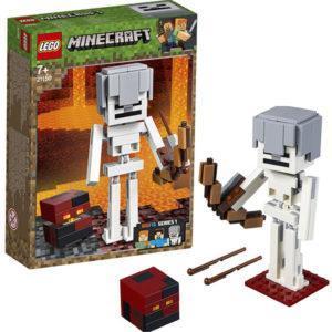 Конструктор LEGO Mineсraft (арт. 21150) «Большие фигурки Minecraft: скелет с кубом магмы»
