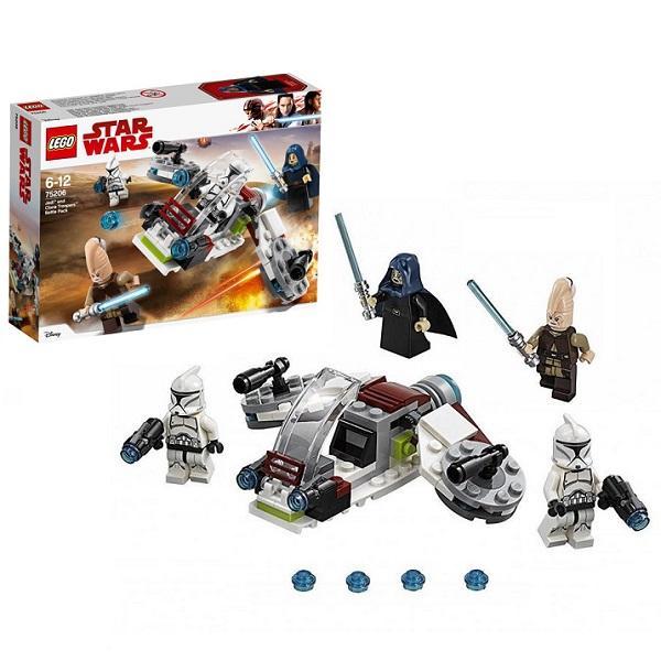 Конструктор LEGO Star Wars (арт. 75206) «Боевой набор Джедаев и Клонов-Пехотинцев»