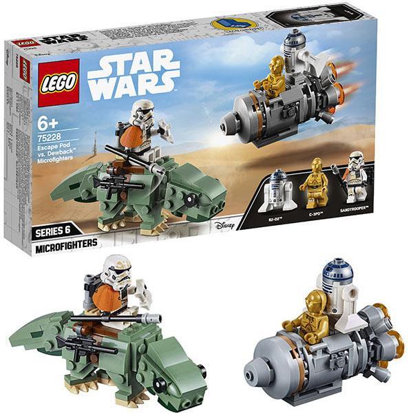 Конструктор LEGO Star Wars (арт. 75228) «Спасательная капсула Микрофайтеры: дьюбэк»
