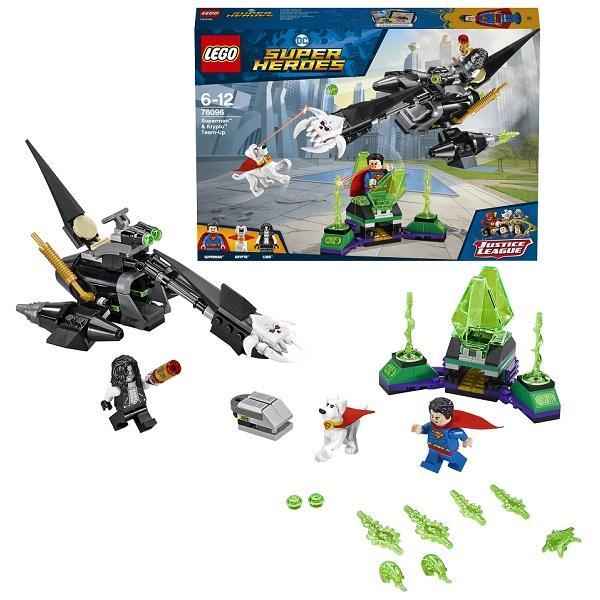 Конструктор LEGO Super Heroes (арт. 76096) «Супермен и Крипто объединяют усилия»
