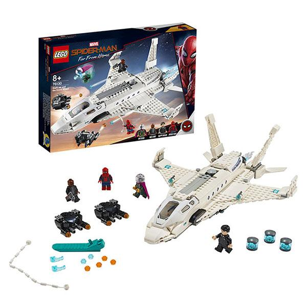 Конструктор LEGO Super Heroes (арт. 76130) «Реактивный самолёт Старка и атака дрона»