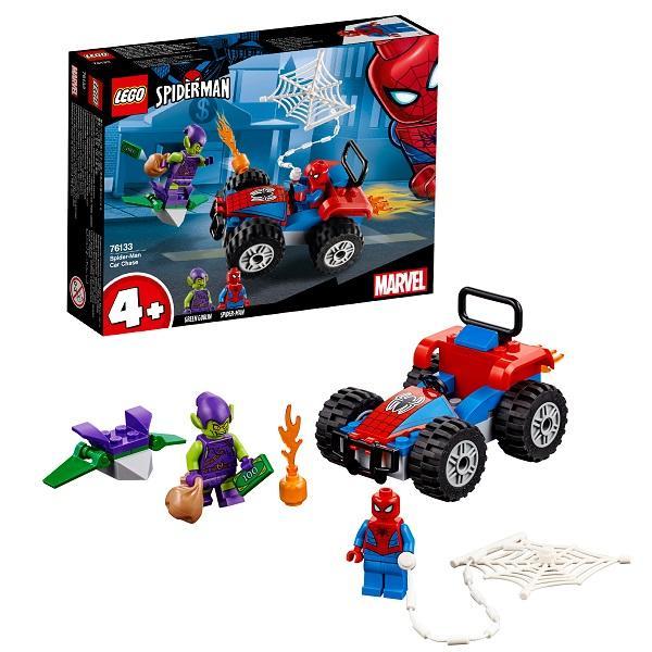 Конструктор LEGO Super Heroes (арт. 76133) «Человек-паук: Автомобильная погоня Человека-паука»