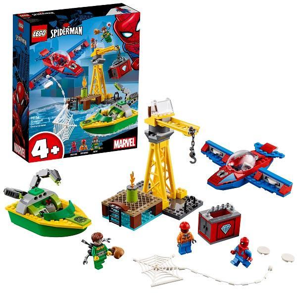 Конструктор LEGO Super Heroes (арт. 76134) «Человек-паук: Похищение бриллиантов Доктором Осьминогом»