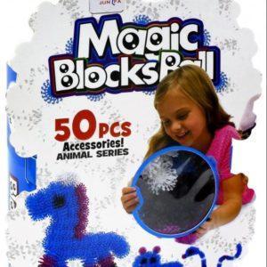 Конструктор-липучка «Magic Blocks Ball» (50 элементов, 4 цвета)