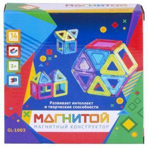 Конструктор магнитный Магнитой «6 квадратов, 8 треугольников» (арт. GL-1003)