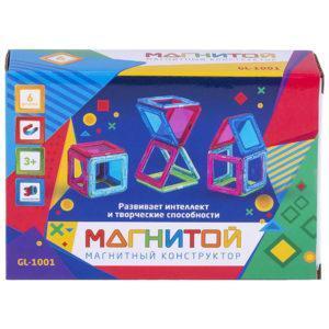 Конструктор магнитный Магнитой «6 квадратов» (GL-1001)