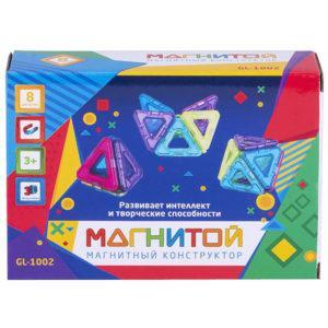 Конструктор магнитный Магнитой «8 треугольников» (арт. GL-1002)