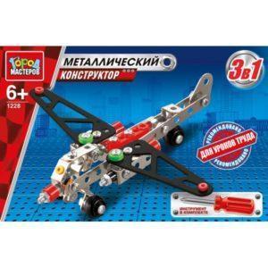 Конструктор металлический 3-в-1: самолет, вертолет, болид
