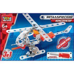 Конструктор металлический 3-в-1: вертолет, самолет и ракета