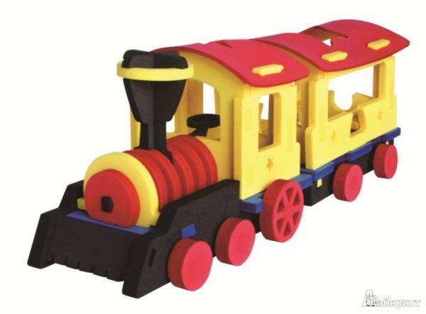 Конструктор мягкий 3D «Поезд-экспресс» (76 деталей)
