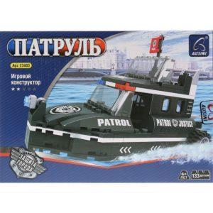 Конструктор пластиковый Ausini Патрульный катер-вездеход