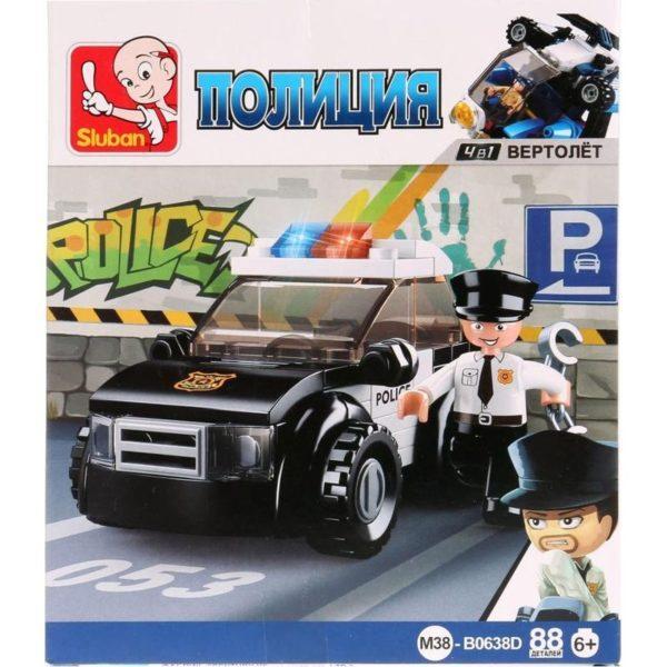Конструктор пластиковый Sluban Полицейская машина